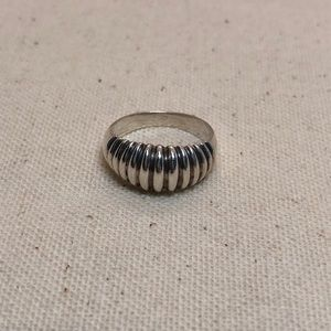 Jewelry - Vintage sterling silver domed ring size 5.5